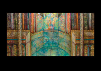 "Immersion, 2015, diptych, acrylic on canvas, 72"" x 144"""