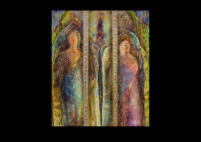 "Facing Time, 2015, acrylic on canvas, 72"" x 60"""