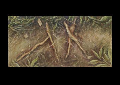 """OT, 2009, acrylic on canvas, 10"""" x 20"""""""