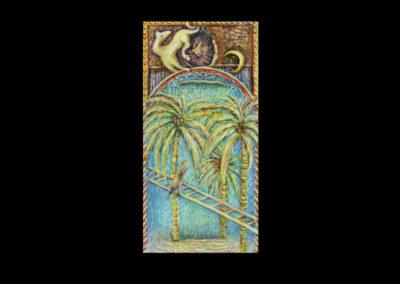 "Ascent, 2010, acrylic on canvas, 30"" x 15"""