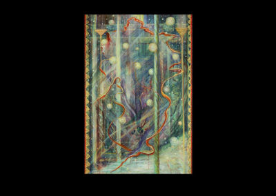 "Aurora Impassionata, 2008, acrylic on canvas, 72"" x 48"""