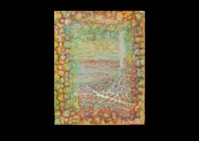 "Series I #1, Sensing Ancient, 2014, acrylic on canvas, 10"" x 8"""