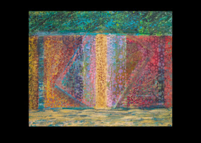 "Series III #1, Rising, 2014, acrylic on canvas, 16"" x 20"""