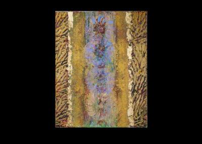 "Series IV #1, Venus, 2014, acrylic & gold leaf on canvas, 20"" x 16"""