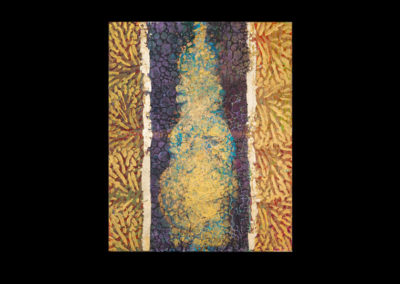 "Series IV #4, Palpable, 2014, acrylic & gold leaf on canvas, 20"" x 16"""