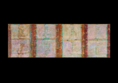 """Series V, Transubstantiation, 2014, acrylic on canvas, 4 panels 24"""" x 18"""" each, 24"""" x 72"""" assembled"""