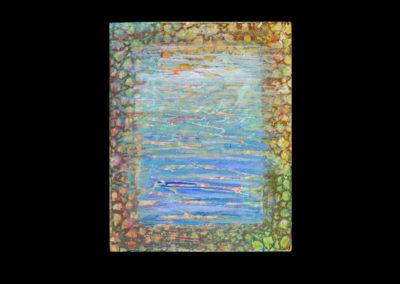 "Series I #2, Surface, 2014, acrylic on canvas, 10"" x 8"""