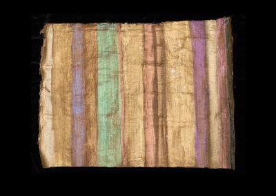 "Series VIII #1, Redwoods Green, 2014, acrylic on papyrus, 18"" x 25"""