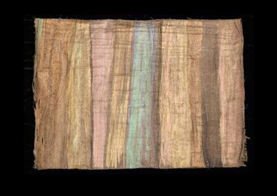 "Series VIII #2, Redwoods Turquoise, 2014, acrylic on papyrus, 18"" x 25"""