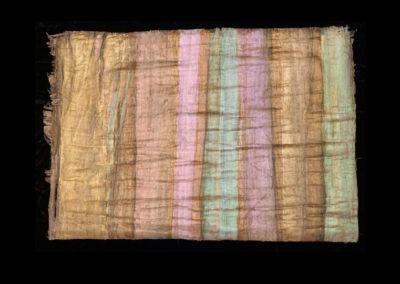 "Series VIII #4, Redwoods Pink, 2014, acrylic on papyrus, 18"" x 25"""