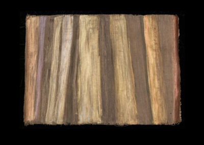 """Series VIII #5, Redwoods Gold, 2014, acrylic on papyrus, 18"""" x 25"""""""