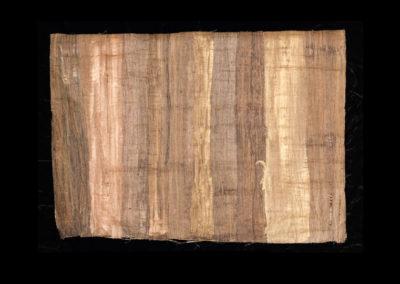 "Series VIII #7, Redwoods Bronze, 2014, acrylic on papyrus, 18"" x 25"""