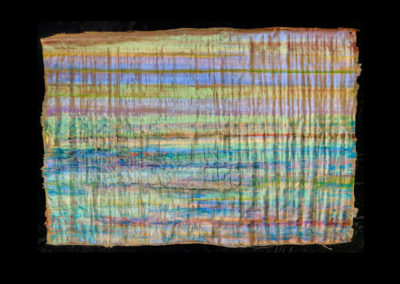 """Series VIII #9, Shimmer, 2014, acrylic on papyrus, 26.5"""" x 38"""""""