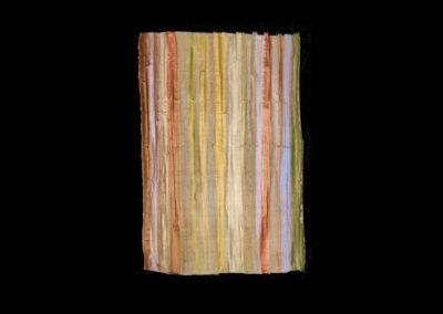 "Series VIII #11, Redwoods Brilliant, 2014, acrylic on papyrus, 26"" x 18"""