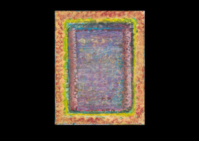 "Series II #3, Palimpsest, 2014, acrylic on canvas, 14"" x 11"""