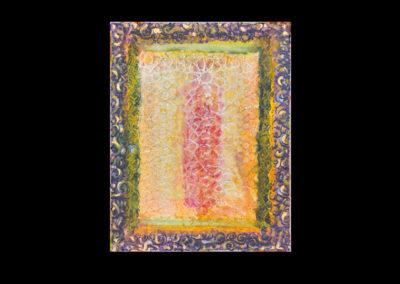"Series II #4, Integration, 2014, acrylic on canvas, 14"" x 11"""