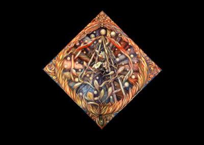 "Exaltation, 1999, oil on canvas, 70"" x 70"""