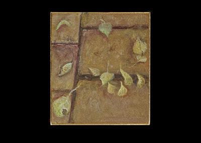 "12 Fell to Earth, 2004, acrylic on archival board, 5.375"" x 4.75"""