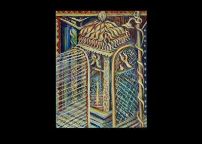 """House of Mystery & Prayer, 2008, acrylic on canvas, 14"""" x 11"""""""