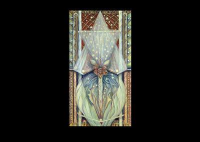 """Kingdom (Mayim/Shamayim), 2005, acrylic on canvas, 60"""" x 32"""""""