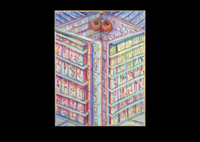 "Knowledge, 2006, acrylic on archival board, 16"" x 12"""
