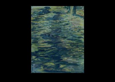 "Rain V, 2005, acrylic on archival panel, 12.75"" x 10"""