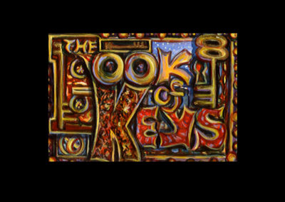 "Book of Keys #1, 1993, acrylic on Arches® paper, 7"" x 10"""