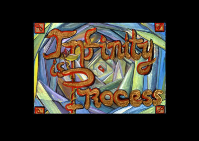 "Book of Keys #17, Infinity is Process, 1993, acrylic on Arches paper, 7"" x 10"""
