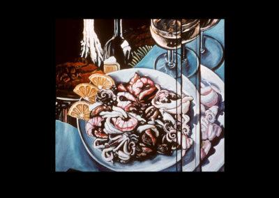 "Trio, 1969, oil on canvas, 38.5"" x 36"""