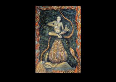 "Passionate Nature: Compassionate Nature, 1991, oil on canvas, 30"" x 20"""