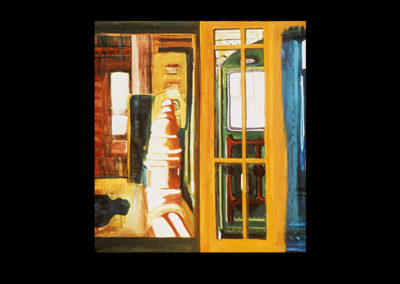 """Subway, NY, 1967, oil on canvas, 60"""" x 48"""""""