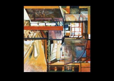 """Lighthouse, 1968, oil on canvas, 48"""" x 48"""""""