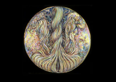 "Full Circle, 1980, oil on canvas, 13"" diameter"