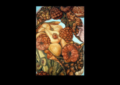 "Raspberry Reel, 1973, oil on canvas, 60"" x 60"""