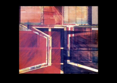 "Red Square, 1968, oil on canvas, 48"" x 48"""