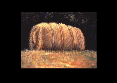 "MacDowell Hay Bale Series #15 Balemouth, 1987, oil on canvas, 25"" x 34"""