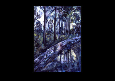 "Annaghmakerrig Postcard Series #23, 1993, acrylic on Arches paper, 6"" x 4.25"""
