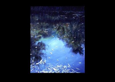 "Dorland Pond #16, 1982, oil on canvas, 37"" x 30"""