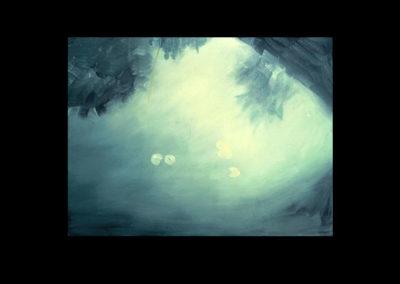 "Dorland Pond #23, 1983 oil on canvas, 20"" x 26"""
