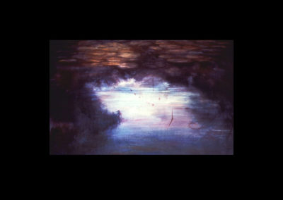 "Dorland Pond #29, 1983 oil on canvas, 34"" x 55"""