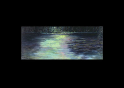 "Dorland Pond #63, 1984, oil on canvas, 30"" x 72"""