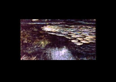 """Dorland Pond #71, 1994, acrylic on canvas, 48"""" x 72"""""""