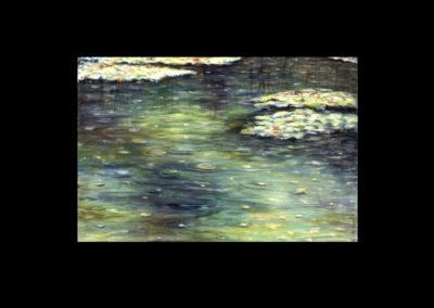 "Dorland Pond #74, 1997, oil on canvas, 24"" x 36"""