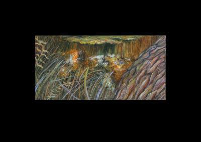 "Dorland Pond #75, 2003, oil on canvas, 10"" x 20"""