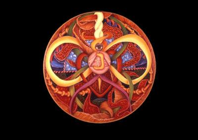 """Annan, 1976, oil on canvas, 30"""" diameter"""