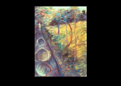 "Drumlin Series #16, 1993, A/Fabriano, 30"" x 22"""