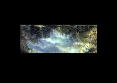 "MacDowell Pond, 1988, oil on canvas, 24"" x 66"""