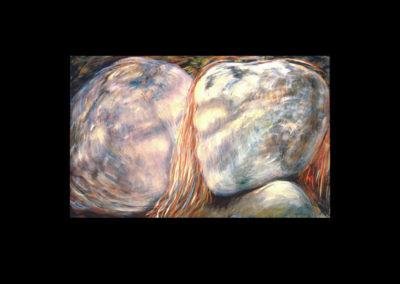 """Veiled, 1987, O/C, 25"""" x 40"""""""