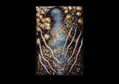 """Seven: Visible Spirit, 1987, O/C, 72"""" x 48"""""""