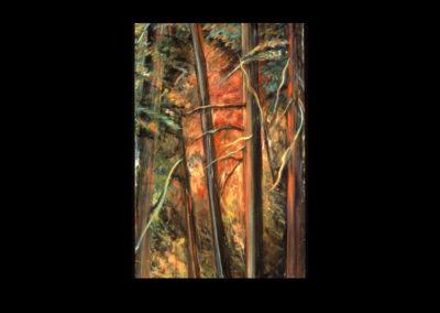 """Fire Fall, 1996, O/C, 73.5"""" x 48"""""""